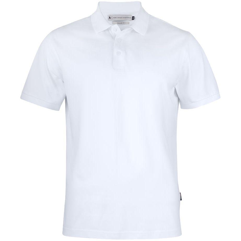 Рубашка поло мужская Sunset белая, размер M