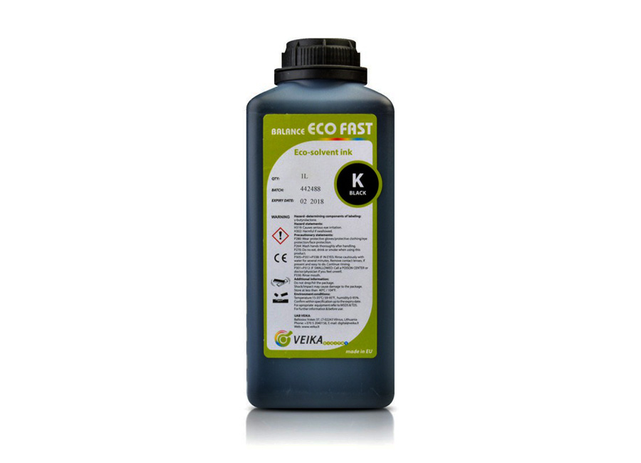 Фото - VEIKA Balance Eco Fast (Black), 1 л (бутыль) средство для мытья пола 5 л любаша лимон пэт