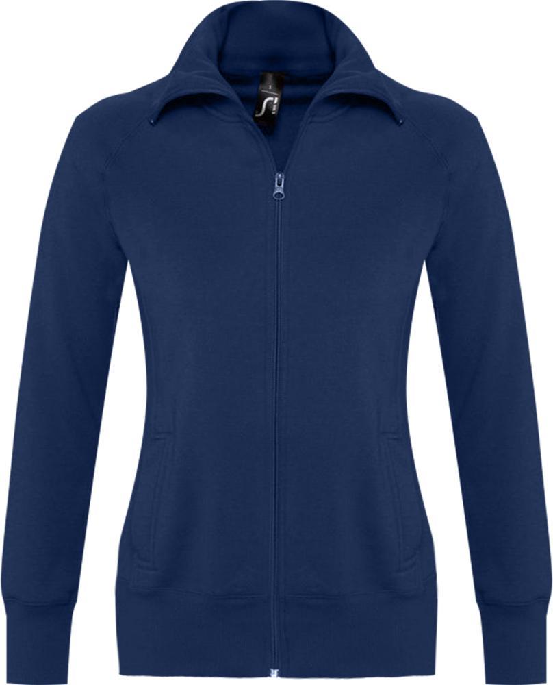 Толстовка женская на молнии SODA 280 темно-синяя, размер XL куртка тренировочная женская на молнии sst tt синяя размер xl