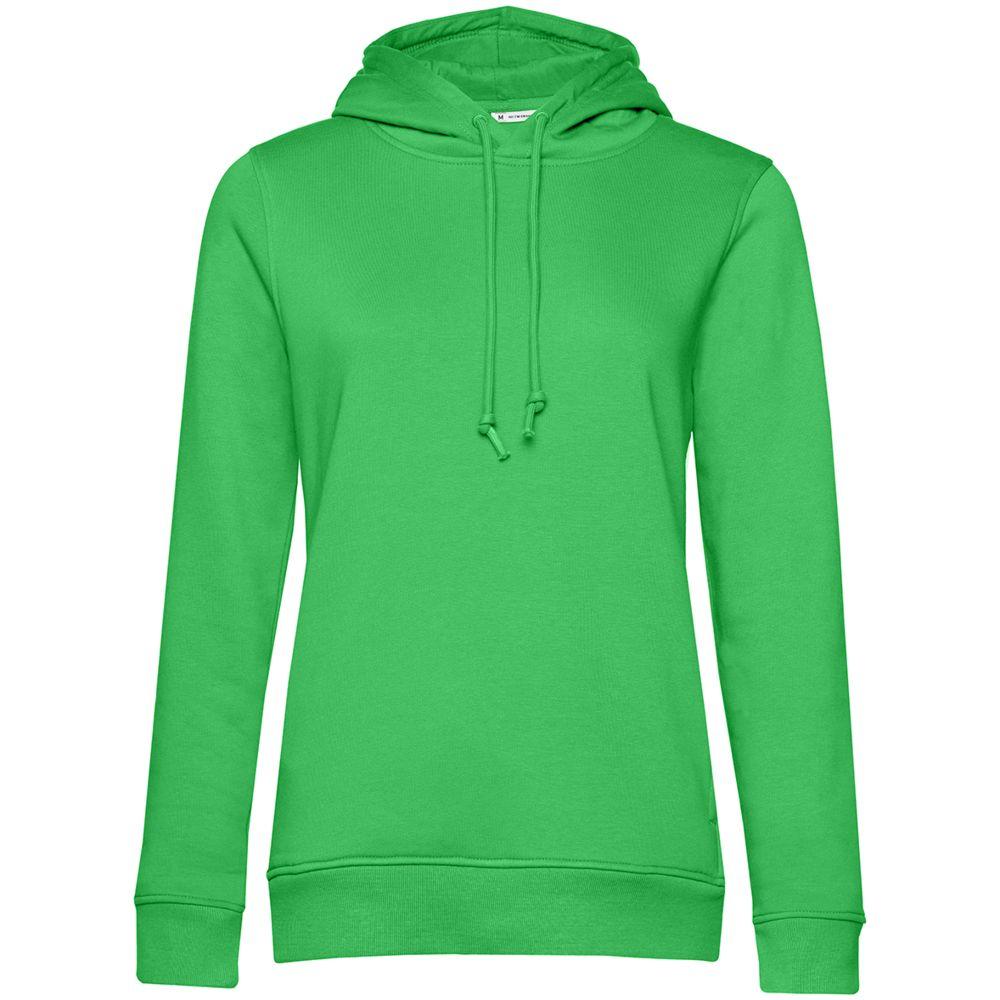 Толстовка с капюшоном женская BNC Organic, зеленая, размер L