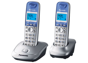 KX-TG2512RUS panasonic kx tg2512rus dect phone additional handset included eco mode time date display communication between handsets