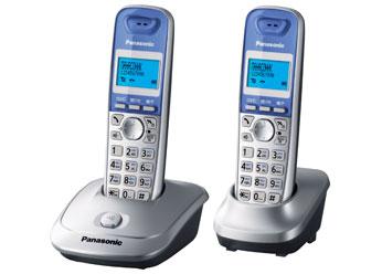 KX-TG2512RUS радиотелефон dect panasonic kx tg2512rus серебристый
