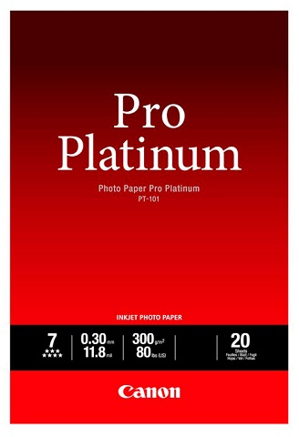 Фото - Фотобумага Photo Paper Pro Platinum PT-101, A2, 300 г/м2, 20 листов, односторонняя, глянцевая (2768B067) canon фотобумага глянцевая 0775b003