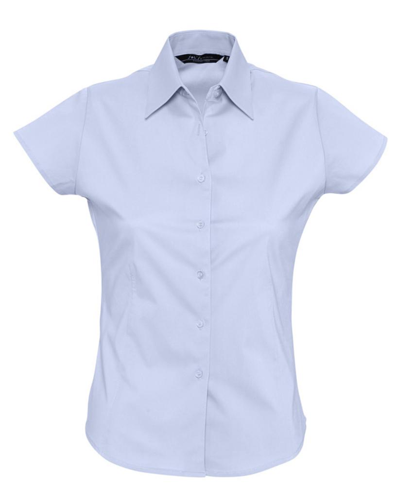 Фото - Рубашка женская с коротким рукавом EXCESS голубая, размер L рубашка женская с коротким рукавом excess темно коричневая размер l