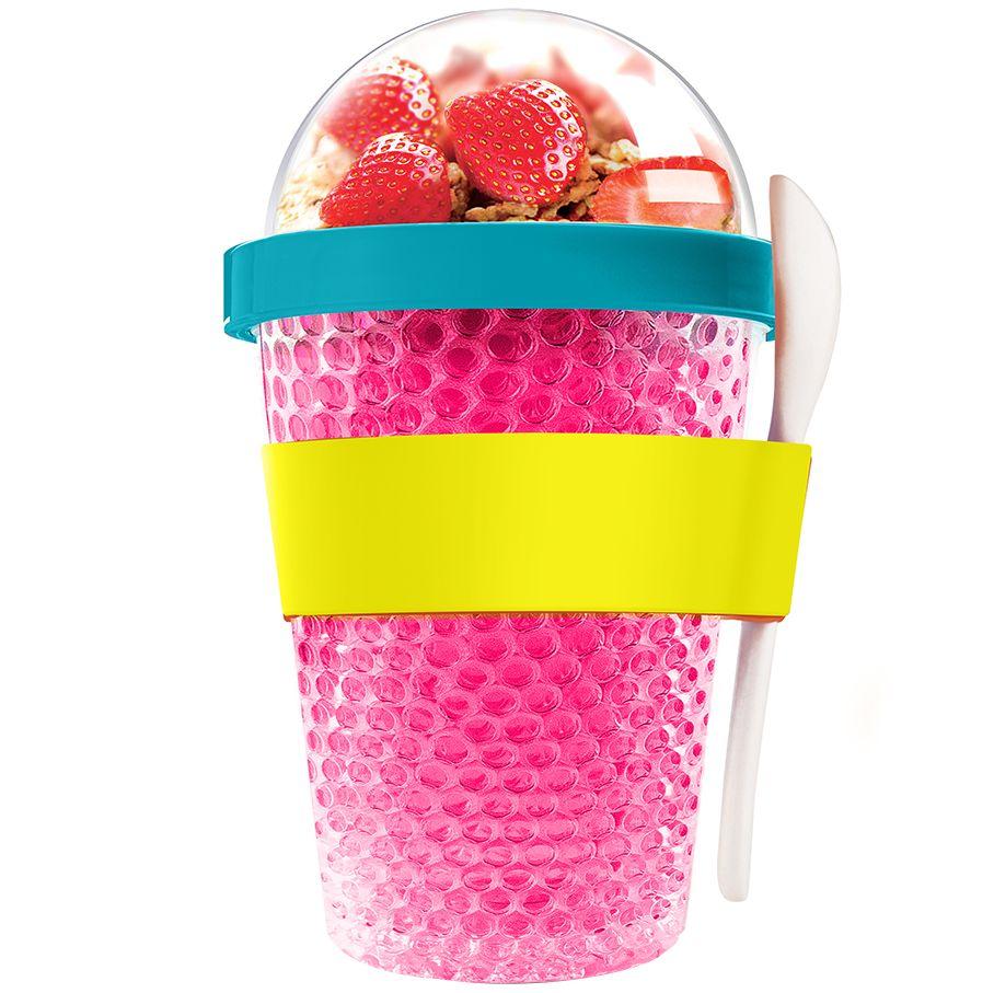 Охлаждающий контейнер Chill Yo 2 Go, розовый rogz ошейник для собак rogz yo yo xs 8мм розовый