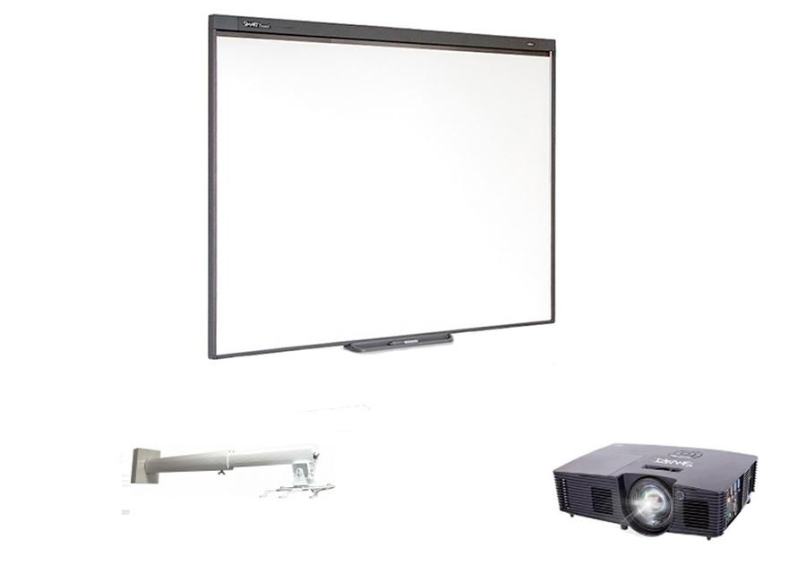 Комплект SBM787v13 в составе: интерактивная доска SBM787V с пассивным лотком, мультимедийный проектор V13, настенно-потолочное крепление Digis DSM-14K