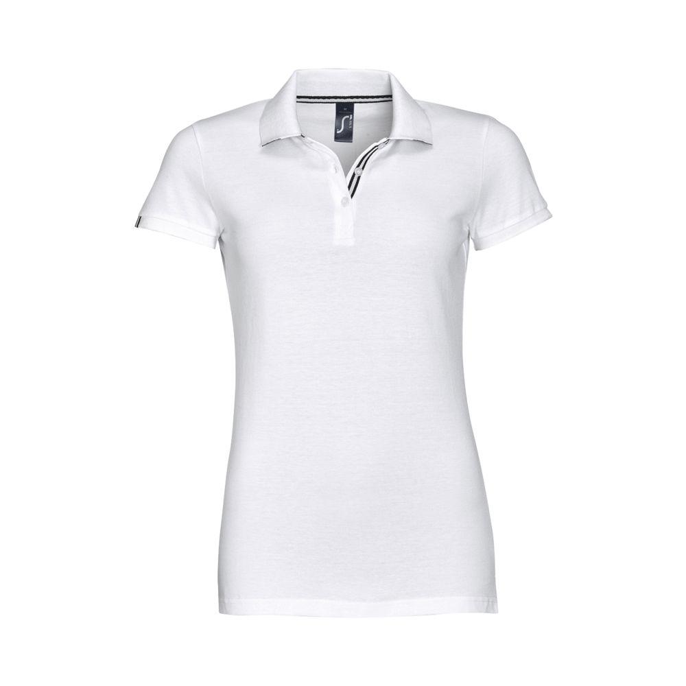 Рубашка поло PATRIOT WOMEN белая с черным, размер XXL фото