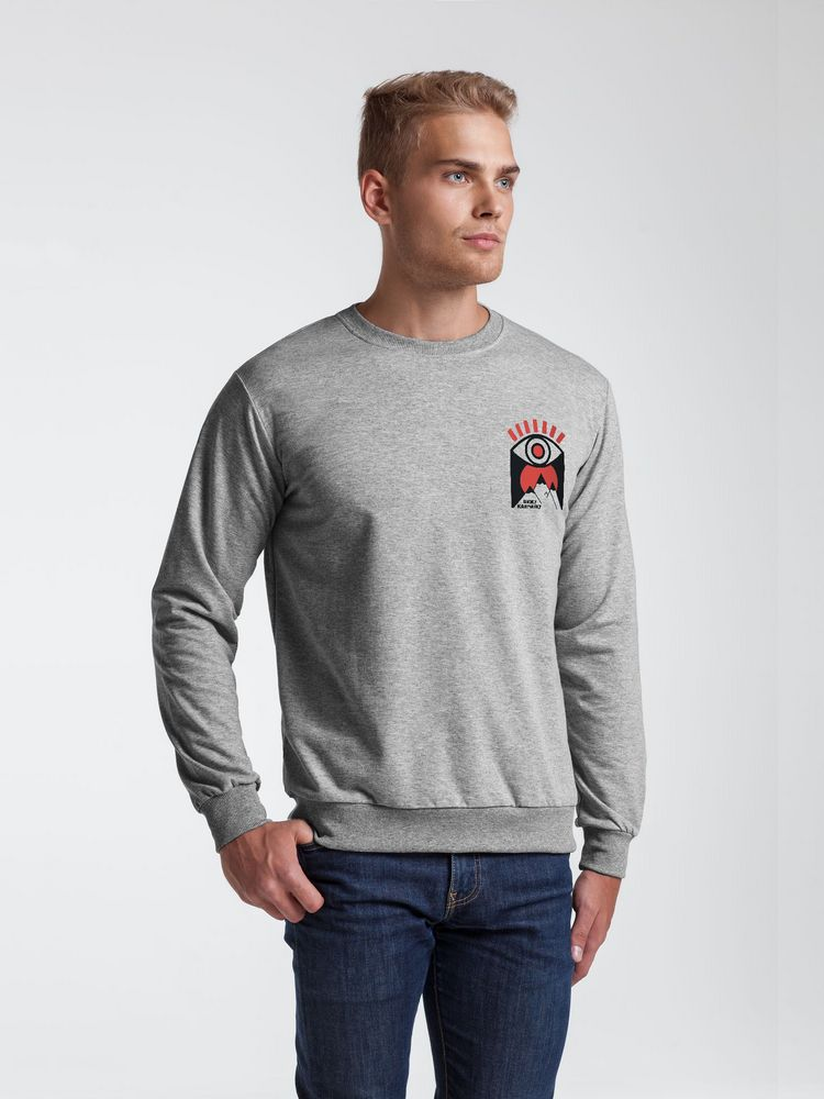 Толстовка «Вижу Камчатку», серый меланж, размер S