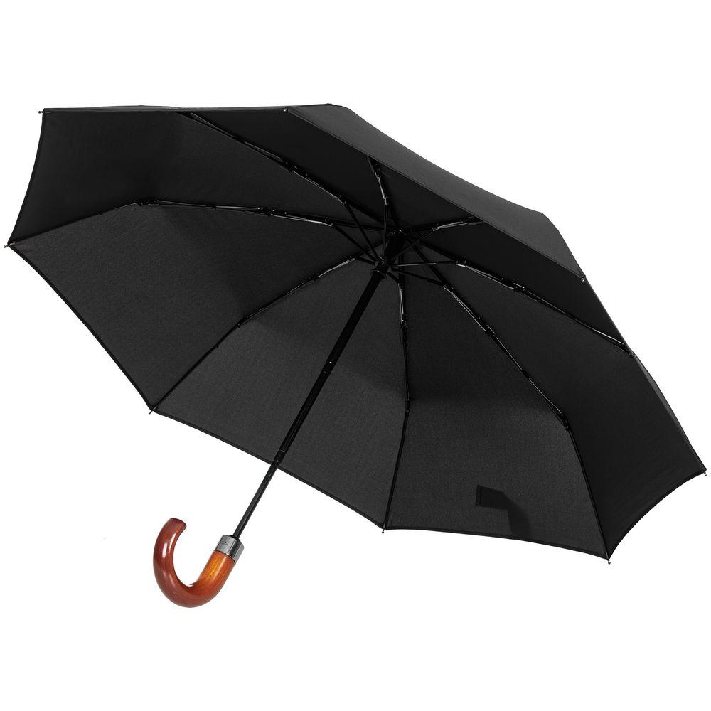 Складной зонт Wood Classic S, черный складной зонт unit classic черный