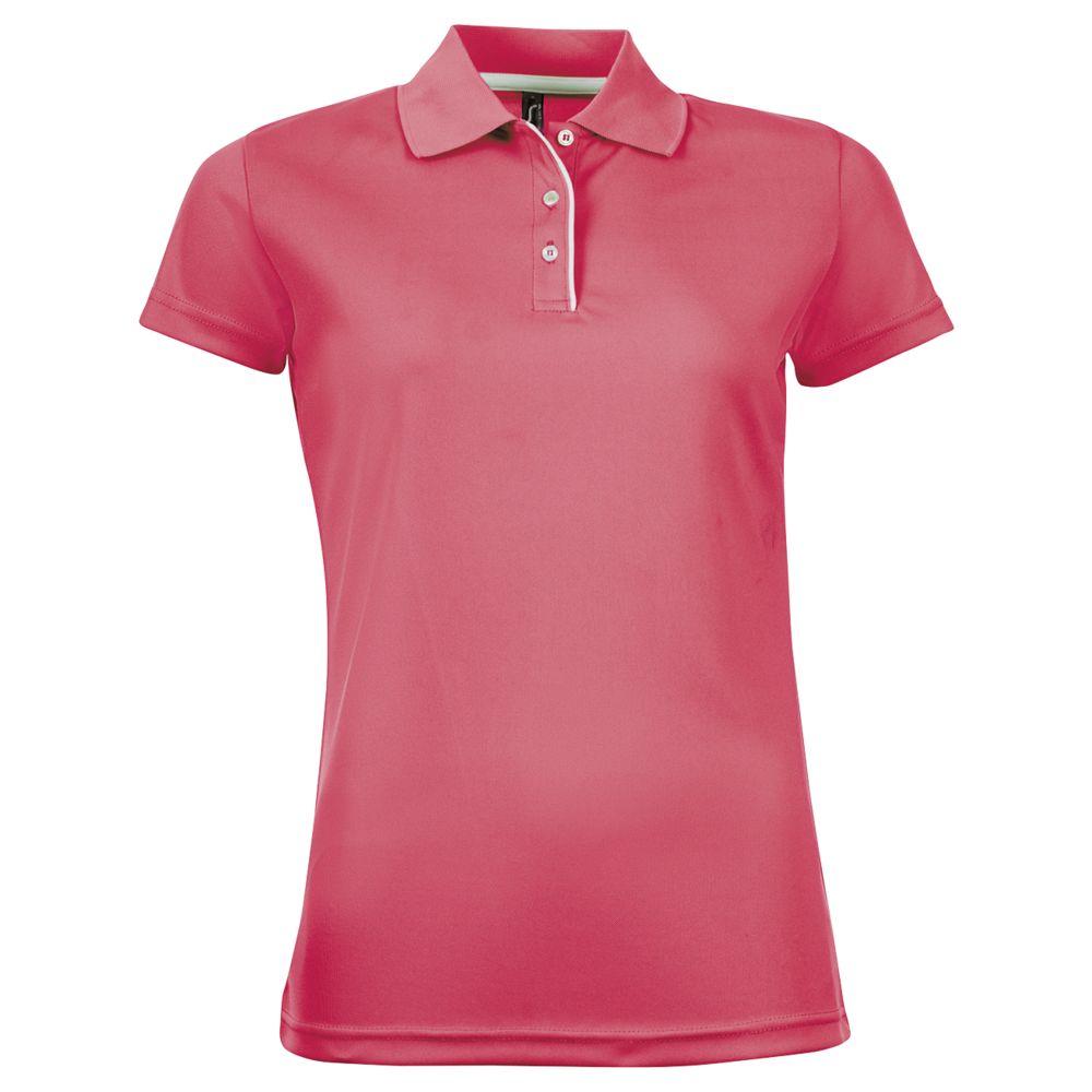 Рубашка поло женская PERFORMER WOMEN неоново-коралловая, размер S beauty essential неоново коралловая расческа с заколкой