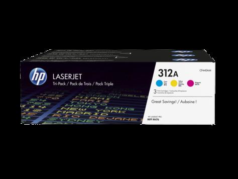 Набор цветных картриджей HP 312A LaserJet (CF440AM) набор цветных картриджей hp 312a laserjet cf440am