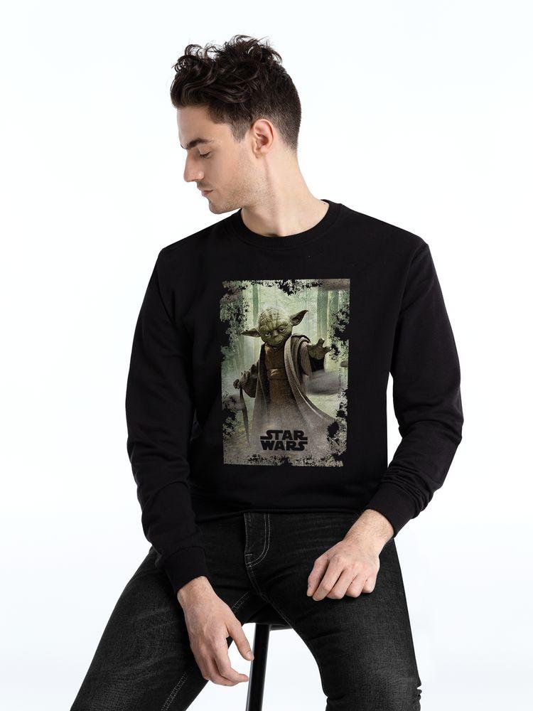 Фото - Свитшот «Мастер Йода», черный, размер 4XL халат vistyle размер 4xl черный белый