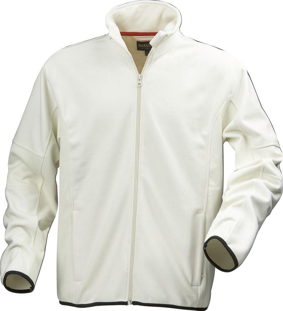 Куртка флисовая мужская LANCASTER, белая с оттенком слоновой кости, размер S