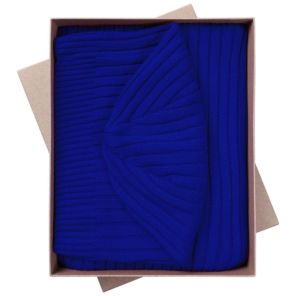 Набор Stripes: шарф и шапка, ярко-синий набор шапка и шарф детский для девочек c размером disney frozen
