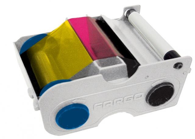 Фото - Картридж с лентой и чистящим валиком полноцветная Fargo YMCKOK 45110 картридж с лентой и чистящим валиком полноцветная лента ymcko 45100