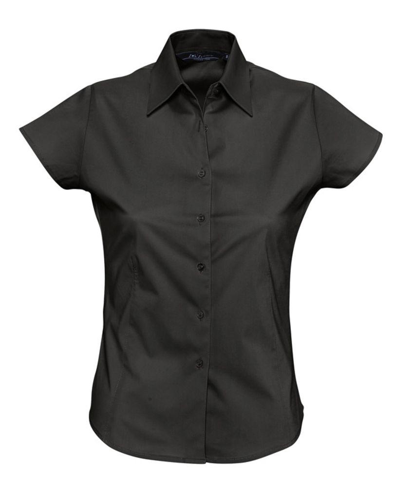 Рубашка женская с коротким рукавом EXCESS черная, размер XL блуза с коротким рукавом seventy блузы с коротким рукавом