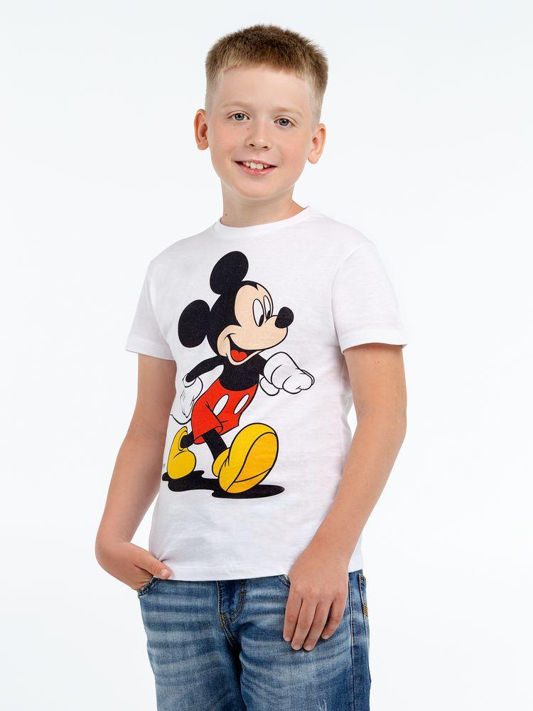 Футболка детская «Микки Маус. Easygoing», белая, на рост 96-104 см (4 года) свитшот детский минни маус so happy белый 4 года 96 104 см