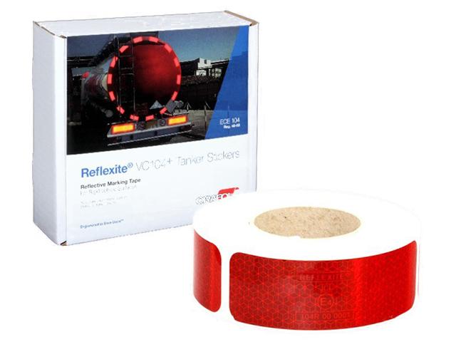 цена на Oralite/Reflexite VC104+ Tanker Stickers для жесткого борта, для цистерн, красная 0.05x50 м