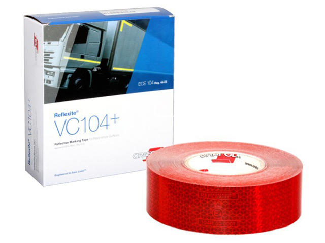 цена на Oralite/Reflexite VC104+ Rigid Grade для жесткого борта, красная 0.05x50 м
