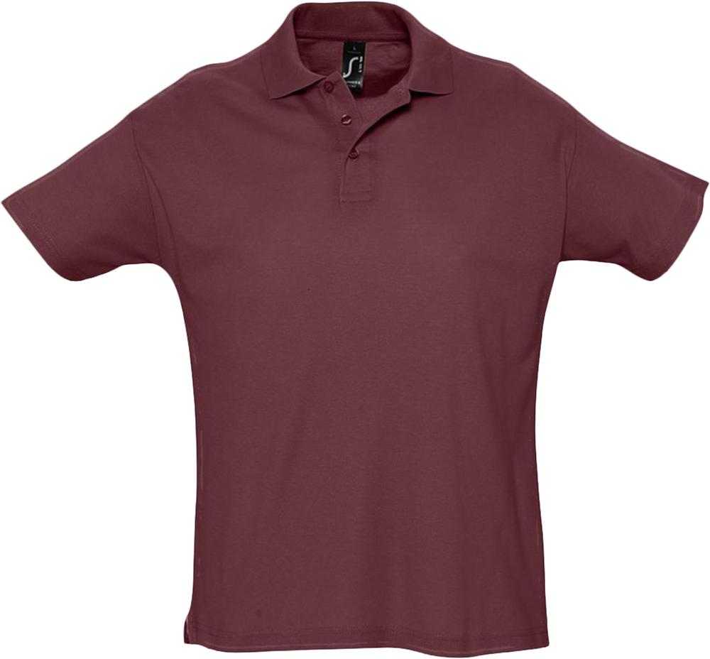 Рубашка поло мужская SUMMER 170 бордовая, размер XXL фото
