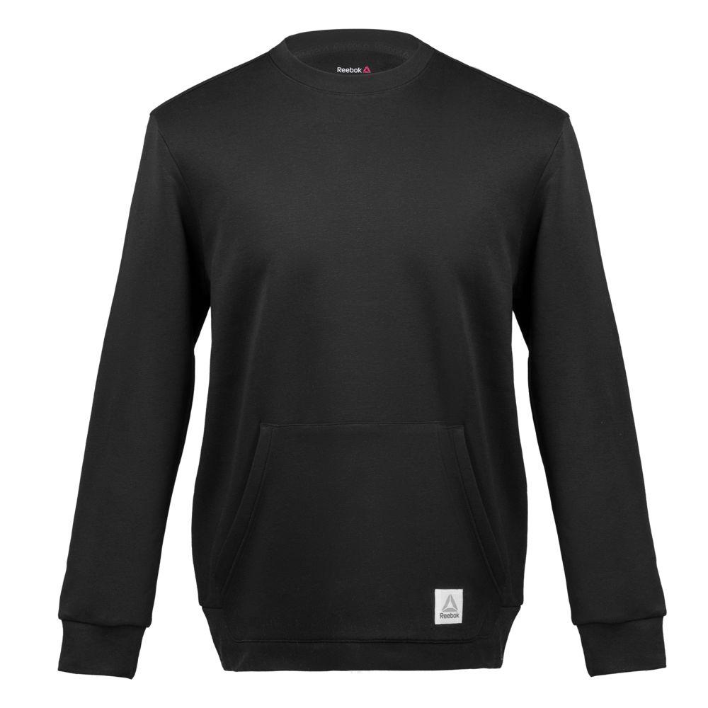 Толстовка мужская Crew Neck, черная, размер L толстовки stussy толстовка stock app crew 118264 black l