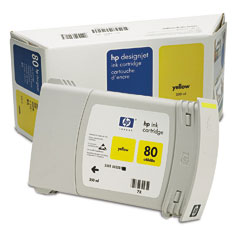 HP DesignJet 80 Yellow 350 мл (C4848A) colorwave300 yellow 350 мл 5834b008