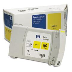 Фото - HP DesignJet 80 Yellow 350 мл (C4848A) кружка в подарочной упаковке felt snowflake 350 мл