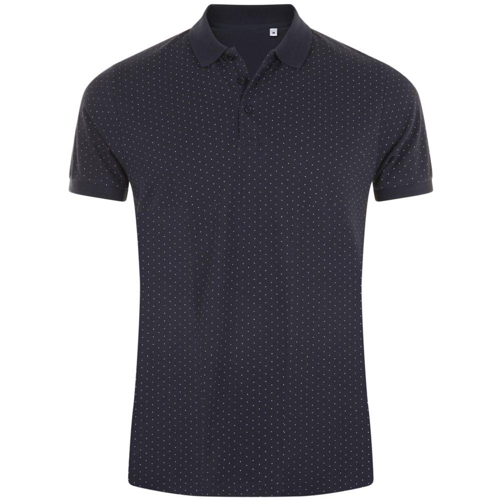Рубашка поло мужская BRANDY MEN, темно-синяя с белым, размер XXL фото