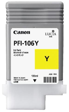 PFI-106Y Yellow 130 мл (6624B001) pfi 207y yellow 300 мл 8792b001
