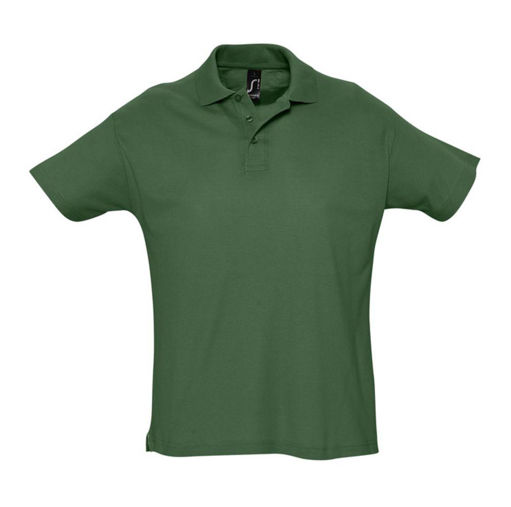 Рубашка поло мужская SUMMER 170 темно-зеленая, размер S