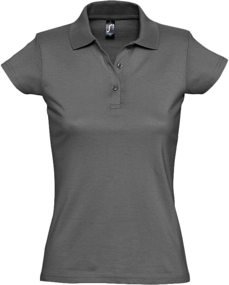 Рубашка поло женская Prescott women 170 темно-серая, размер M блузка женская oodji ultra цвет кремовый темно синий 11411098 3 24681 3079g размер 36 42 170