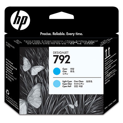 цена на Печатающая головка HP Designjet 792 Cyan & Light Cyan (CN703A)