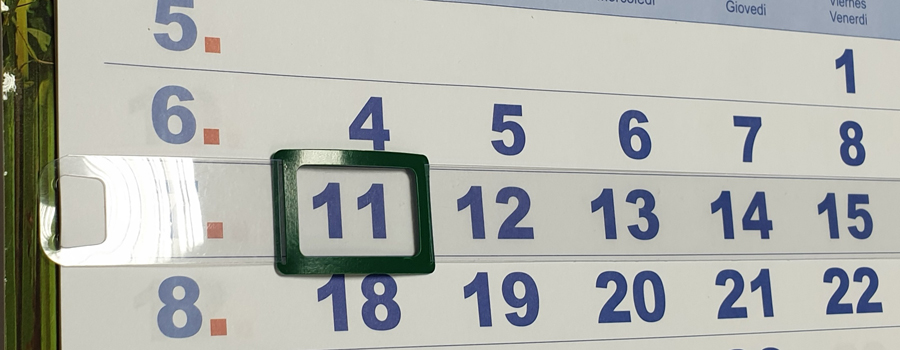 Календарные курсоры на жесткой ленте, 2-ой размер, 301-320 мм, 100 шт, зеленые ползунки для новорожденных фреш стайл киви цвет белый зеленый 2 шт 11к 507 размер 62