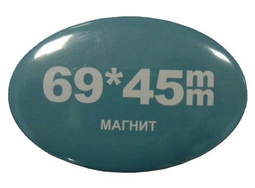 цена на Заготовки для значков 45x69 мм, магнит, 100 шт