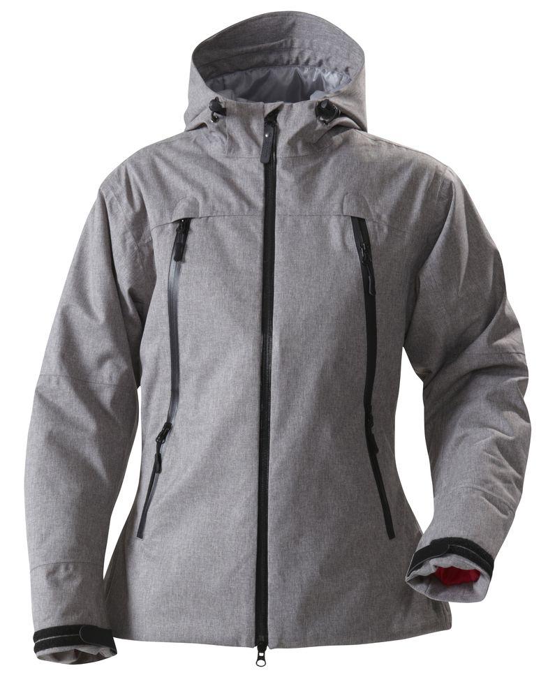 цена Куртка женская ELIZABETH, серый меланж, размер L онлайн в 2017 году