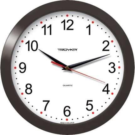 Часы настенные круглые, D290мм, корпус пластик troyka 51510532