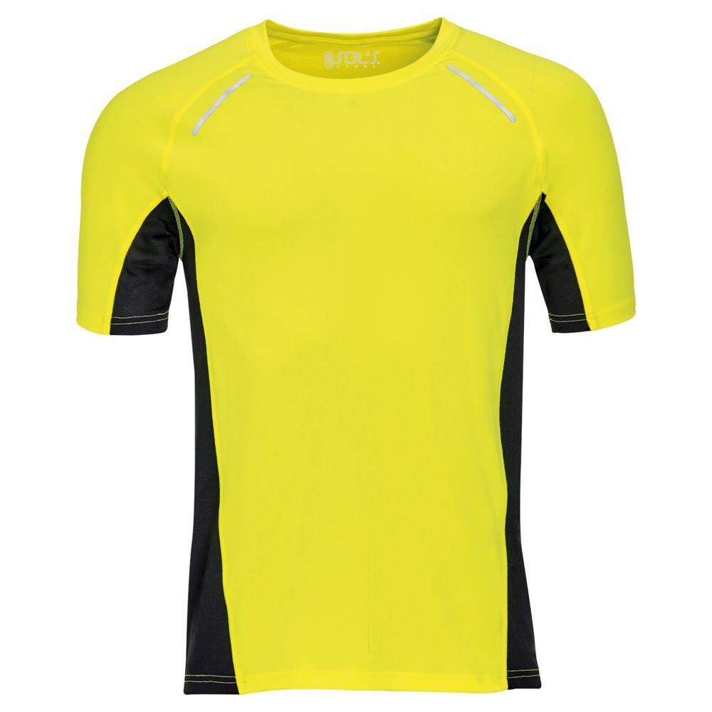 Футболка SYDNEY MEN, желтый неон, размер L гибкий неон led желтый оболочка желтая бухта 50м