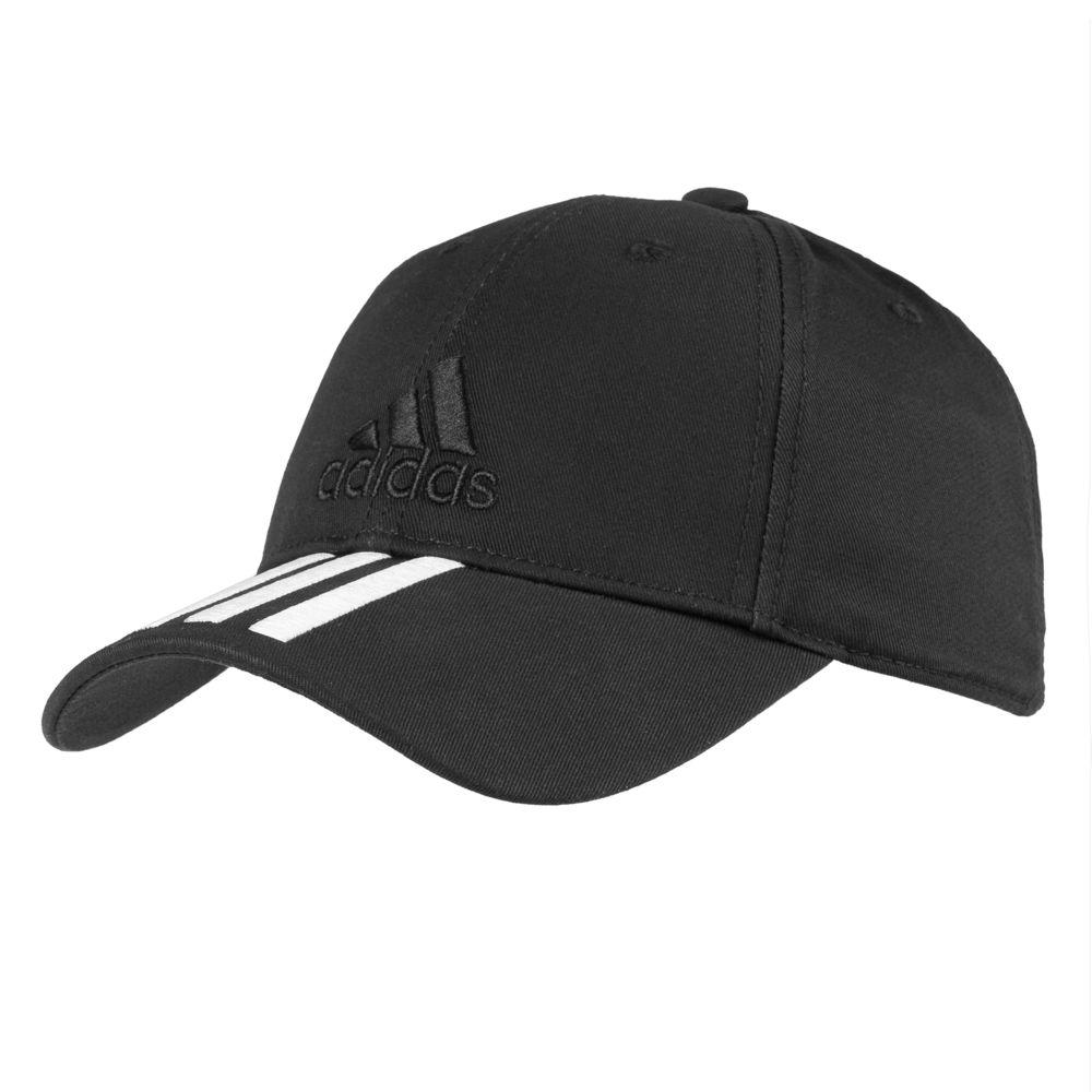 Бейсболка SIX-PANEL CLASSIC 3-STRIPES черная, размер 60