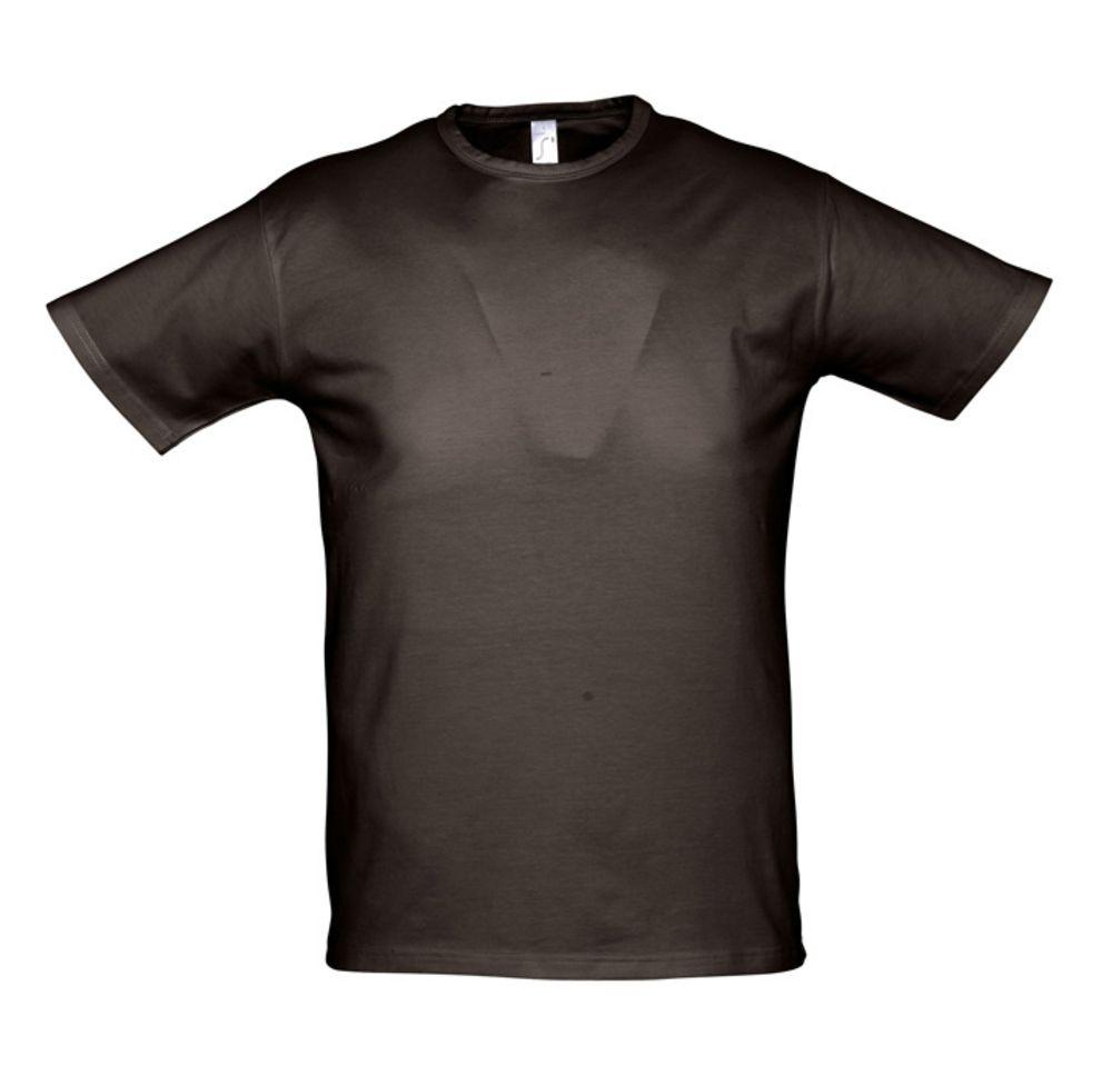 Футболка мужская MILANO 190 темно-коричневая (шоколад), размер XXL визитница milano brown 1295 коричневая