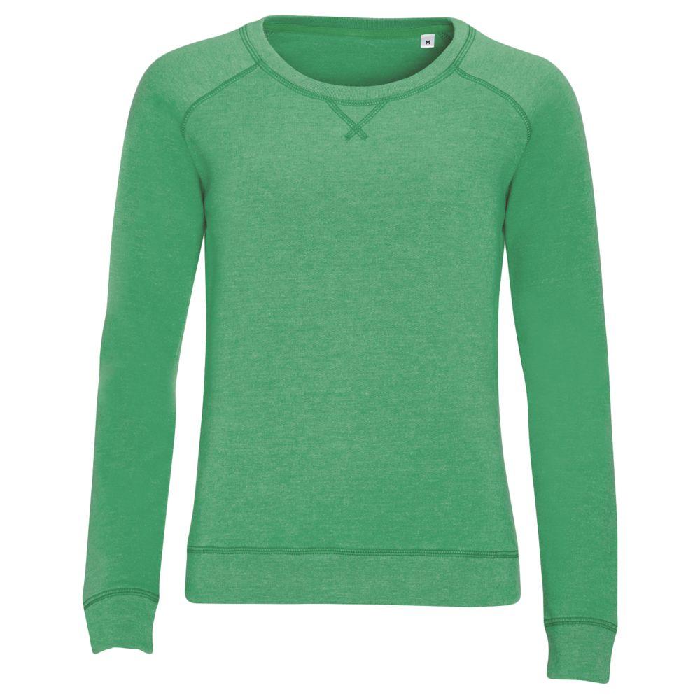 Толстовка STUDIO WOMEN зеленый меланж, размер S