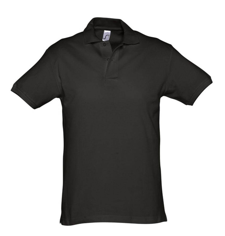 Рубашка поло мужская SPIRIT 240 черная, размер XXL рубашка поло мужская spirit 240 ярко синяя размер xxl