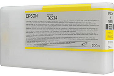 Epson T6534 Yellow 200 мл (C13T653400) epson t5804 yellow 80 мл c13t580400