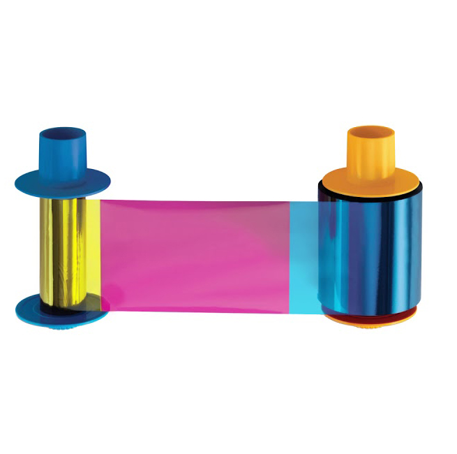 Фото - Полноцветная лента Fargo YMCKO 45610 картридж с лентой и чистящим валиком полноцветная лента ymcko 45100