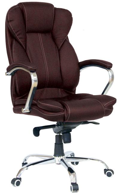 Кресло руководителя Гелеос Монарх, коричневое