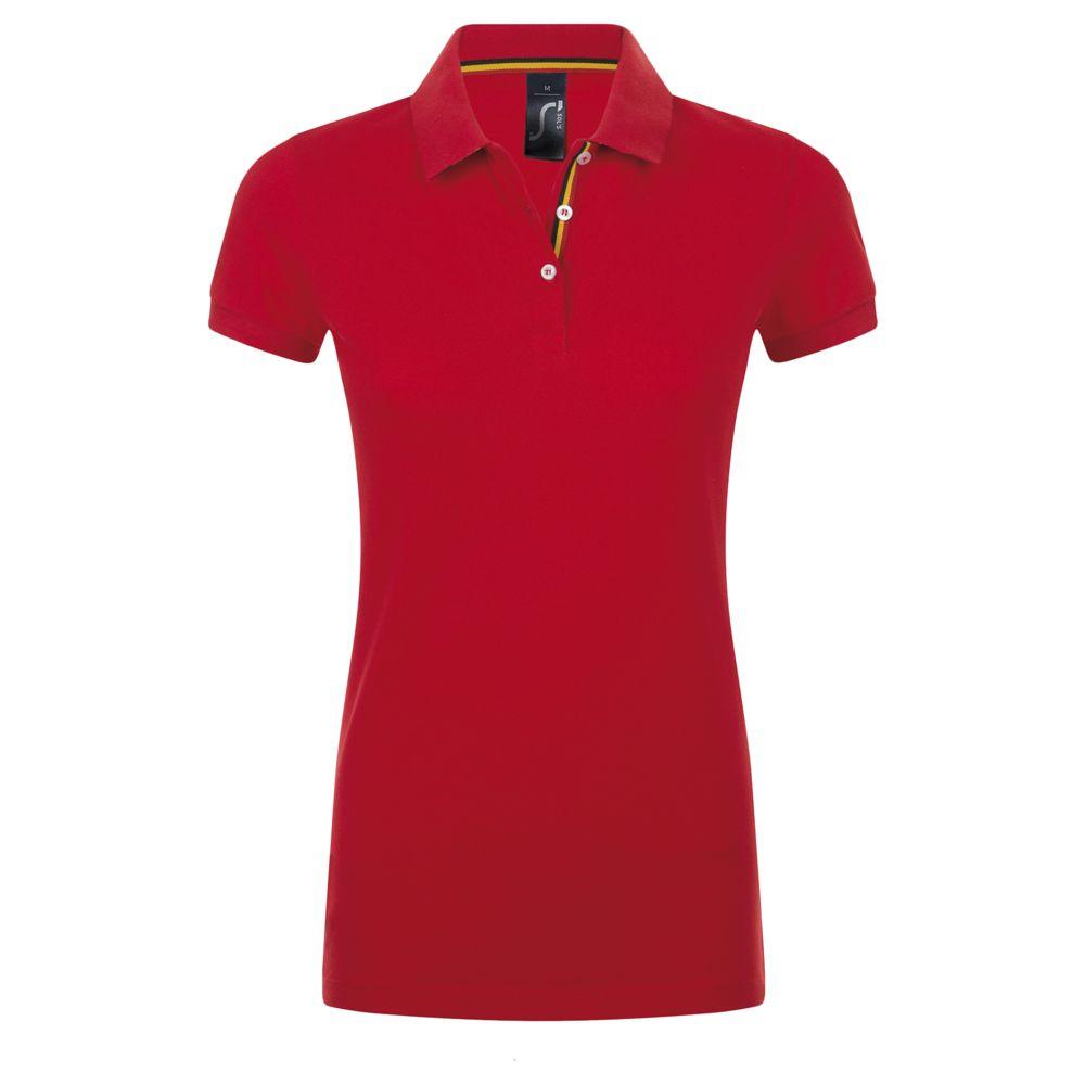 Рубашка поло PATRIOT WOMEN, красная с черным, размер L недорого