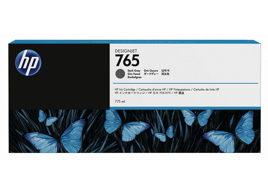 Фото - HP DesignJet 765 Dark Gray 400 мл (F9J54A) брюки женские baon цвет темно синий b298030 dark navy printed размер l 48