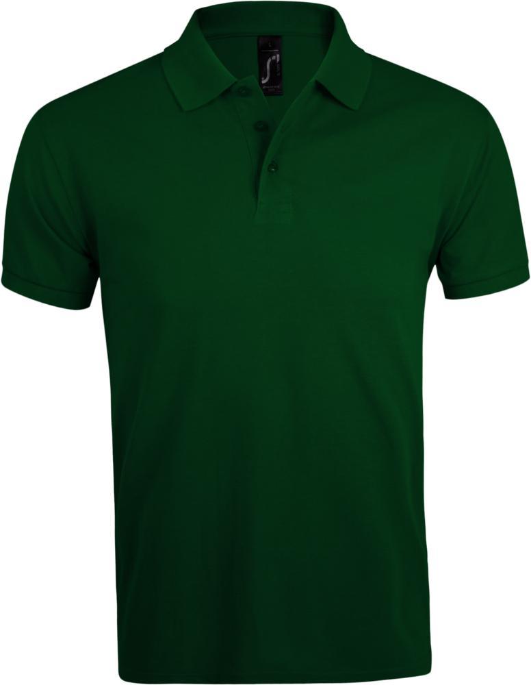 Рубашка поло мужская PRIME MEN 200 темно-зеленая, размер 3XL фото