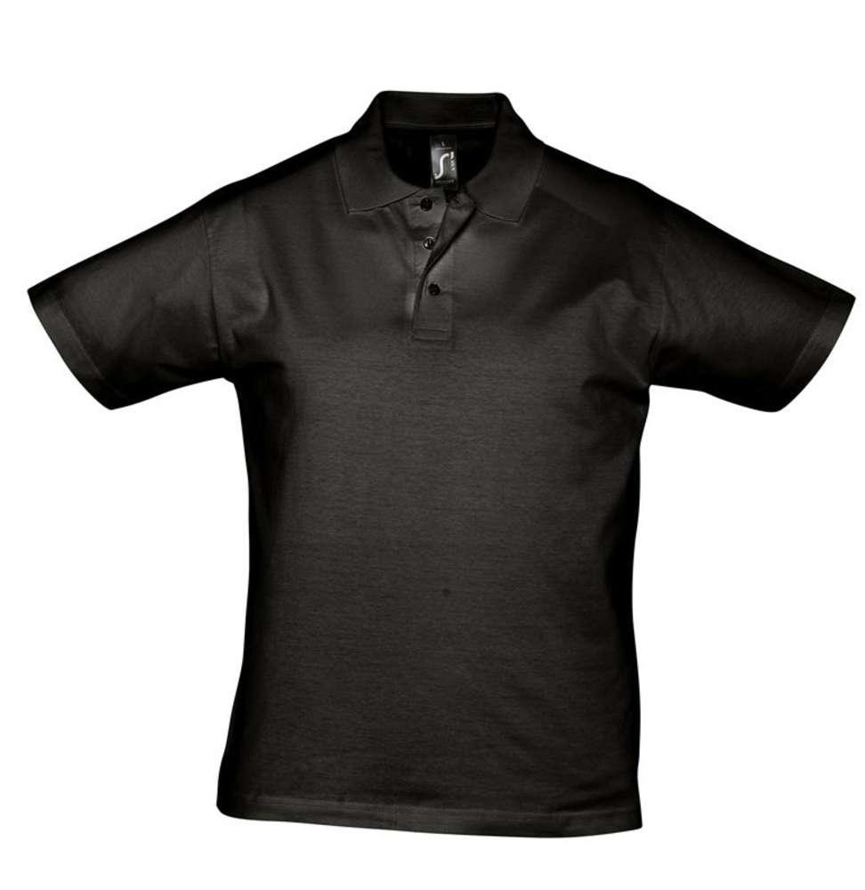 Рубашка поло мужская Prescott men 170 черная, размер XL фото