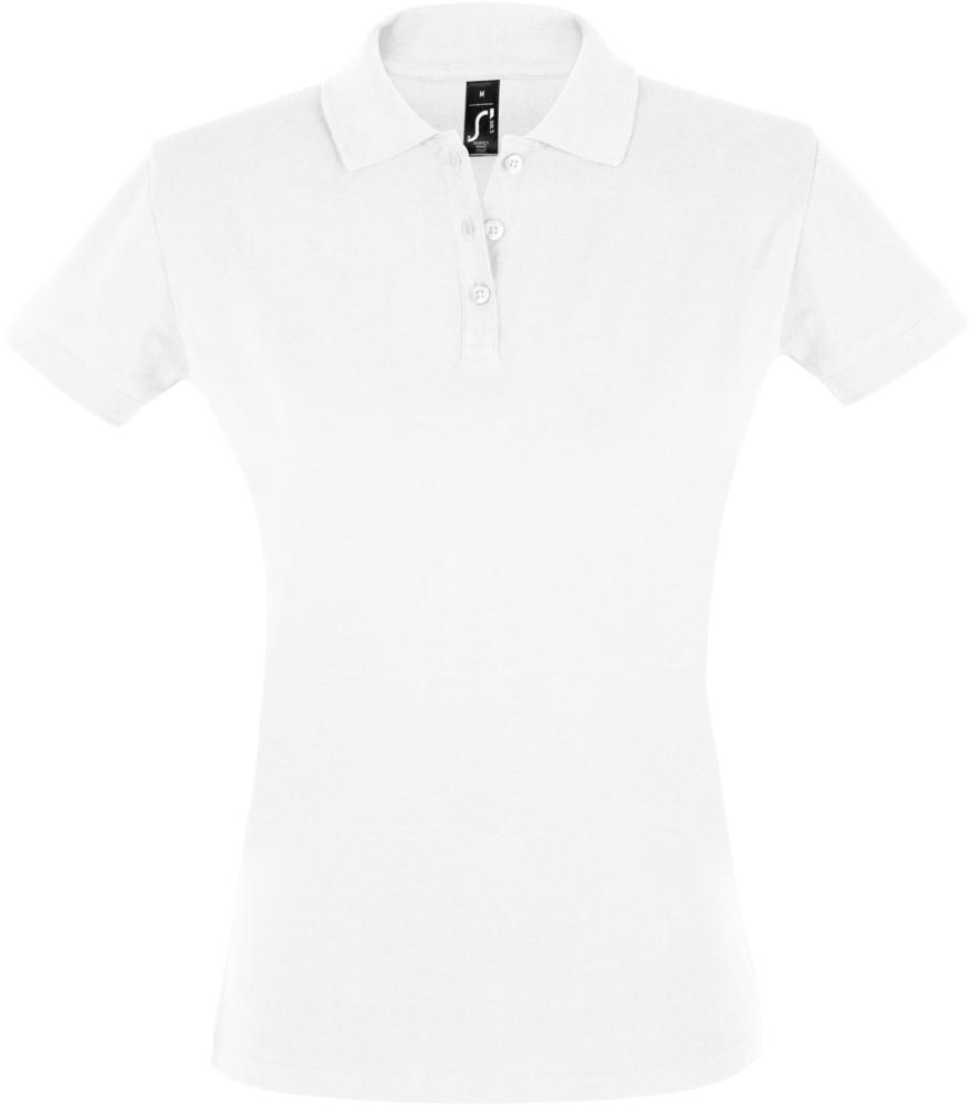 Рубашка поло женская PERFECT WOMEN 180 белая, размер S рубашка поло женская perfect women 180 серый меланж размер s