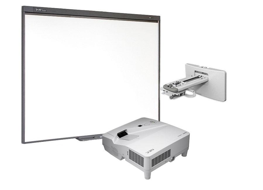 купить Интерактивная доска Board SB480 с мультимедийным проектором NEC UM301X и креплением NEC NP04WK
